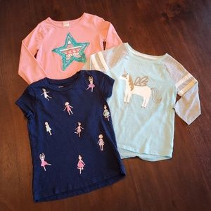 3 pack girl's t-shirts size 6